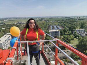 Veronica is hier naar de hoogst haalbare hoogte gebracht, 60 meter